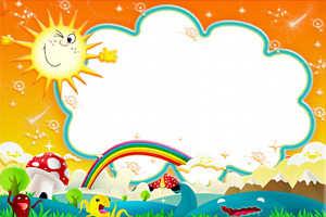 Шаблон для детской открытки