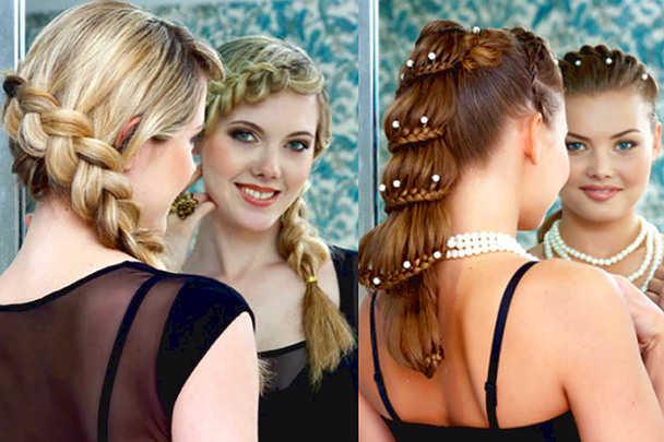 Причёска на выпускной на длинные волосы