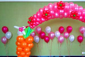 Украшения воздушными шариками