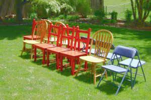 Конкурс на день рождения со стульями