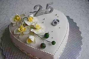 Свадебный торт на юбилей 25 лет