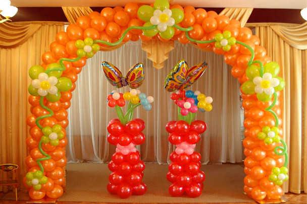 Арка из воздушных шаров для детского сада