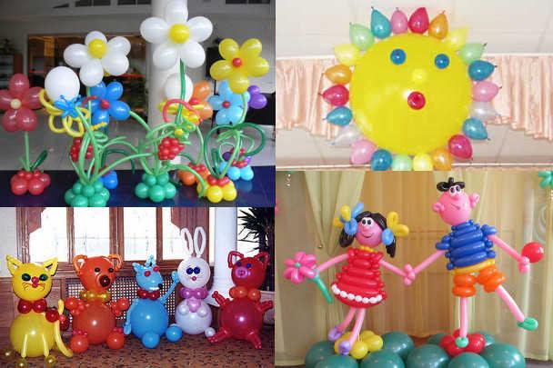 Фигуры из шаров для детского праздника