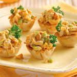 Тарталетки с салатами