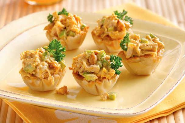 рецепты салатов в тарталетках на праздничный стол