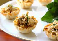 рецепты салатов в тарталетках