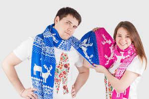 Длинный шарф на двоих