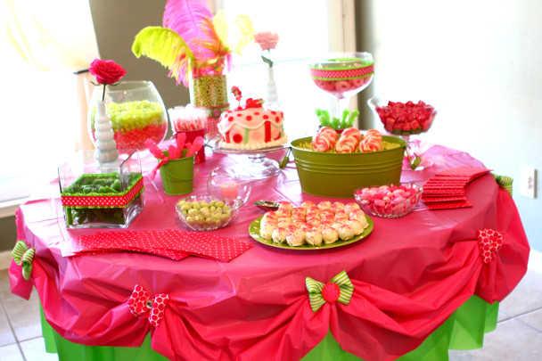 Декорирование праздничного стола на детском дне рождения