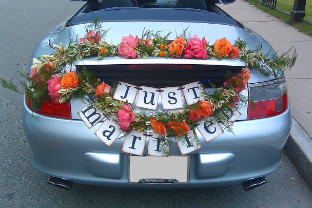 Цветы на багажнике