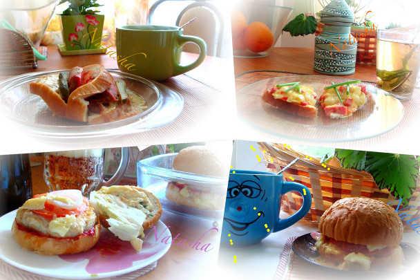 Горячие бутерброды, приготовленные в микроволновке
