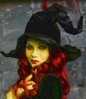 Элегантный образ ведьмы