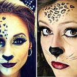 Макияж для образа кошки леопардовой раскраски