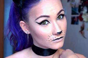 Изящная мордочка кошки - макияж