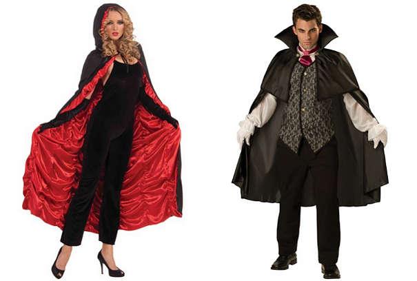 Плащ вампира для девушки и парня на Хэллоуин