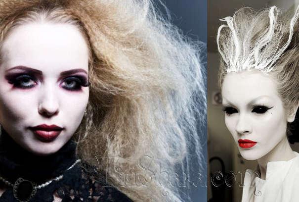 Примеры прически ведьмы на Хэллоуин