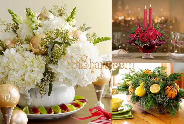 Пышные цветочные композиции на Новый год