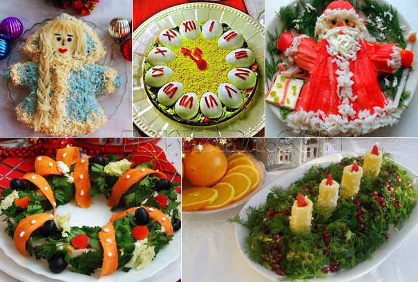 Декоративное оформление салатов