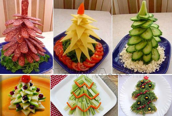 Ёлки из овощей