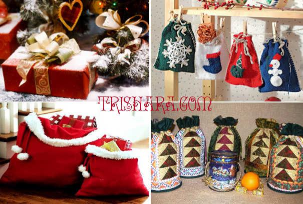 Мешки для подарков как декорация