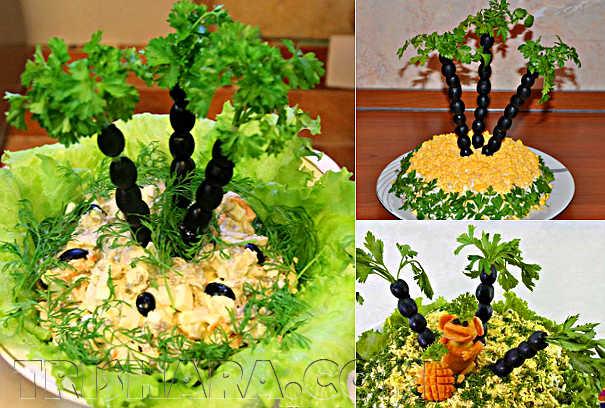 Пальмы в салате