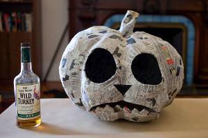 Изготовление тыквы на Хэллоуин из папье-маше