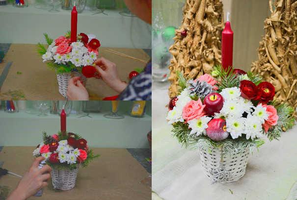 Готовая композиция из цветов