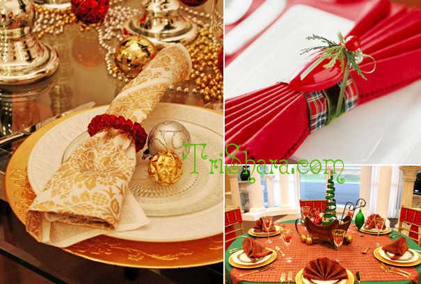 Салфетки на новогоднем столе