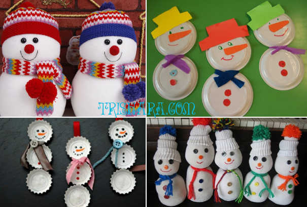 Декоративные снеговики