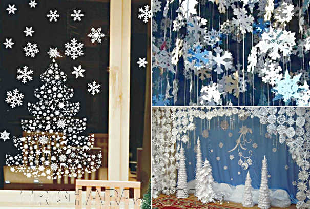 Снежинки в интерьере комнаты
