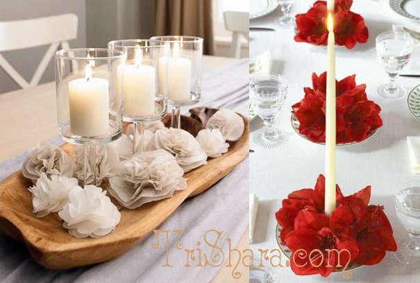 Цветы со свечами