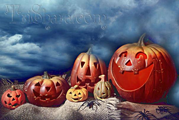 Фонари из тыквы на Хэллоуин