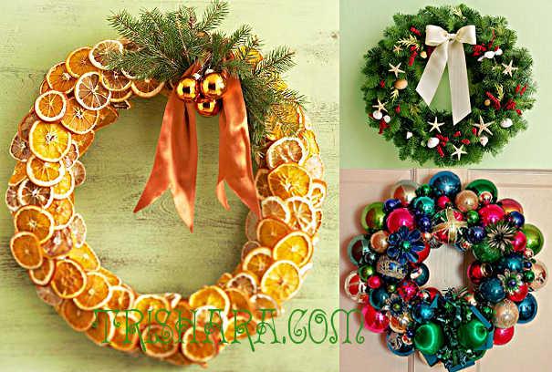 Декоративные новогодние веночки