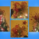 Композиция с бантом на макушке новогодней ёлки