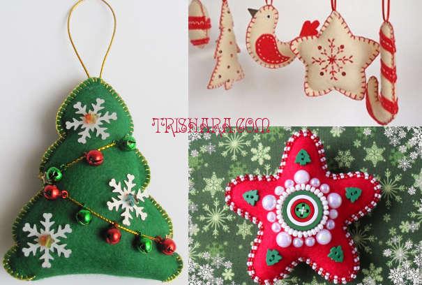 Традиционные ёлочные игрушки из фетра