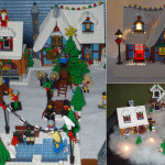 Lego дома на Новый год