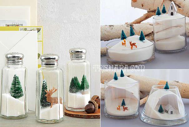 Объёмные миниатюры для декорирования новогоднего стола