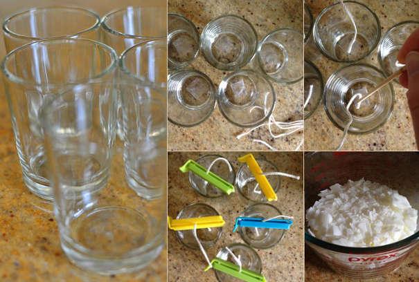 Подготовка к заливке соевой свечи