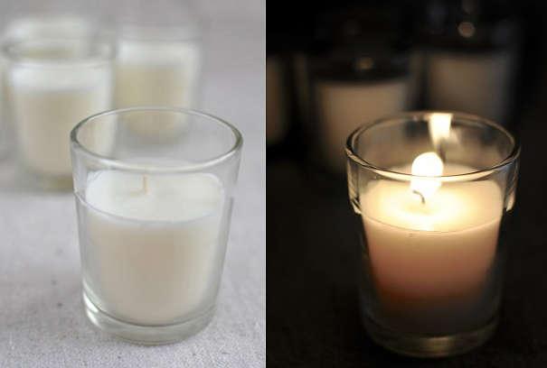 Готовая свеча из соевого воска