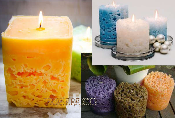 Декоративные свечи со льдом