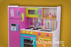 Детская кухонька с посудкой