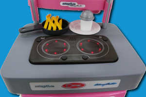 Игрушечная плита с посудой
