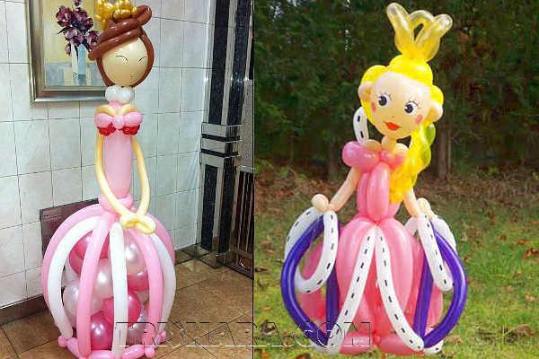 Принцессы из шаров для оформления дня рождения