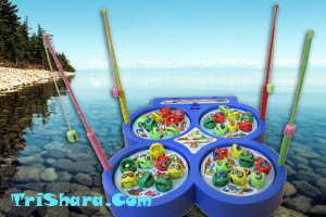 Игрушечная рыбалка для малышей