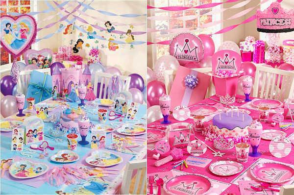 Сервировка стола на празднике принцесс