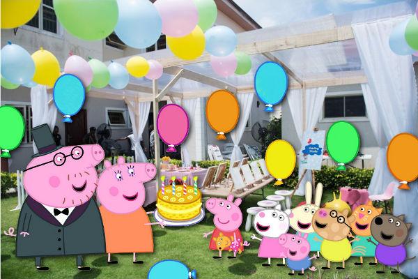 Проведение дня рождения в стиле свинки Пеппы
