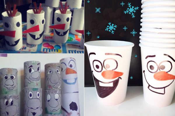 Тролли и снеговики из бумаги и пластиковых стаканчиков