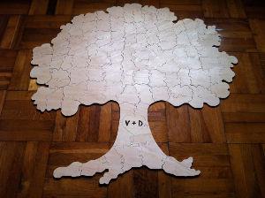 Паззл в виде дерева для пожеланий