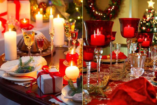 Разнообразные свечки на столе