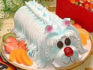 Тортик в виде собаки