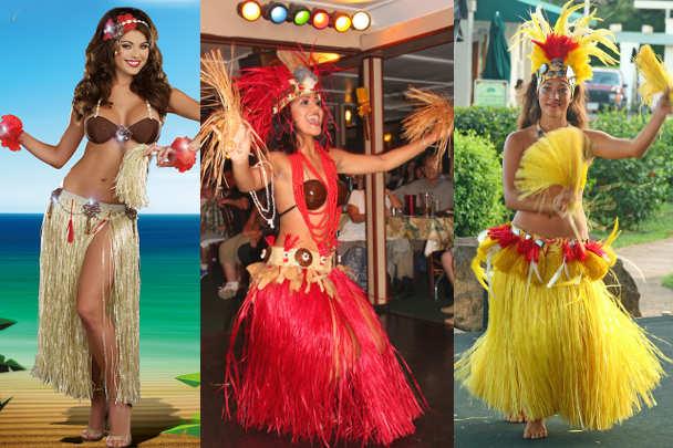 Традиционный костюм для девушки на гавайскую вечеринку